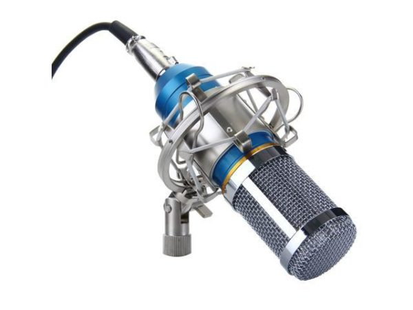 BM-800 Condenser Studio Recording Microphone Blue